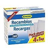 4 recambios antihumedad de 1kg para deshumidificador