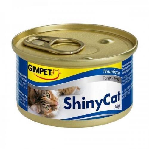 24 x Gimpet ShinyCat Thunfisch 70g, Feinschmeckerpaste, Nassfutter