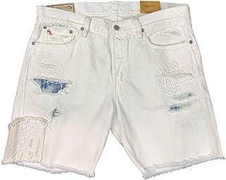 Ralph Lauren Polo Mens Varick Slim Straight Shorts Super Worn White
