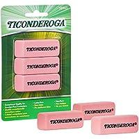 3-Pack Ticonderoga Block Eraser (Pink)