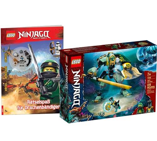 Collectix Lego Set Ninjago Lloyds Hydro-Mech 71750 + Ninjago Diversión para los dragones (cubierta blanda)
