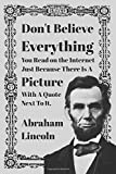 Abraham Lincoln Fake Internet Quote Meme Notebook / Journal / Composition Book | 120 pages | Lined | 6x9 Inches