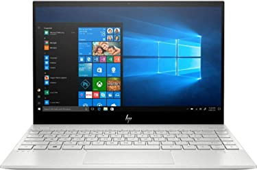 "2020 HP Envy 13.3"" 4K Ultra HD Touch-Screen Laptop 10th Gen Intel i7-1065G7 8GB DDR4 Memory 512GB SSD WiFi 6 Bluetooth 5.0 Weigh 2.6 lbs. Natural Silver"