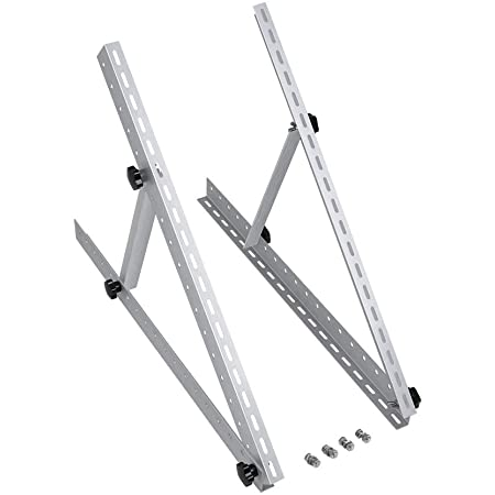 Renogy Adjustable Solar Panel Mount Brackets with Foldable Tilt Legs, Flat Surface for Off-Grid Systems