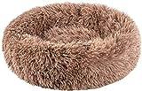 Wythe Plüsch-Donut-Haustierbett für kleine Hunde und Katzen, Katzenkissen, Schlafsack, Hundebett,...