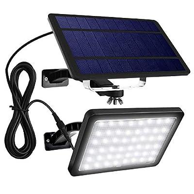 Findyouled Solar Flood Lights Outdoor Landscape Lighting 48 LED 1000 Lumen Cast Aluminium Wall Lights, 2-in-1 Adjustable Light, Auto On/Off (White)