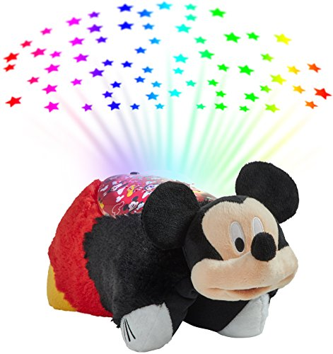 Pillow Pets Disney Mickey Mouse Sleeptime Lite Stuffed Animal Night Light