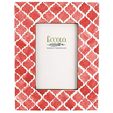 Eccolo Naturals Frame, 4 by 6-Inch, Moorish Tiles Coral