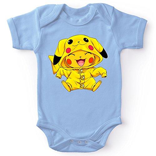 OKIWOKI Pokémon Lustiges Blau Baby Strampler - Pikachu - Ultimate Cosplay (Pokémon Parodie) (Ref:880)