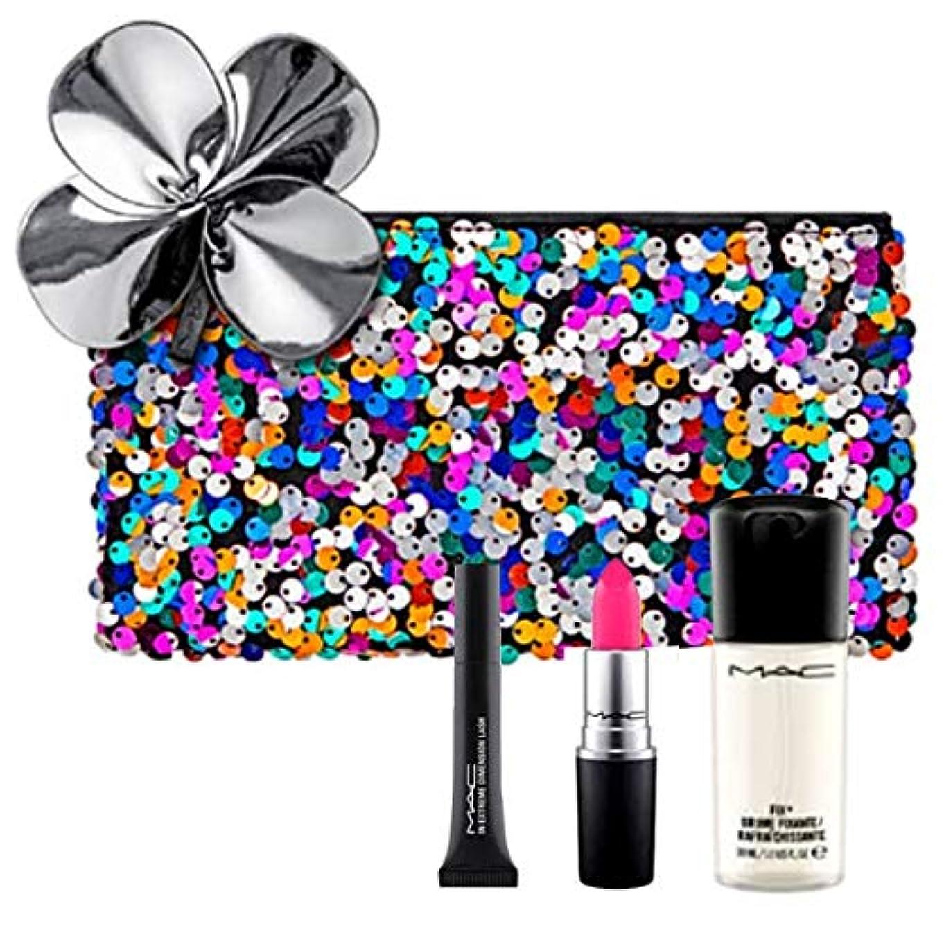 驚かす推測する眉M.A.C ?マック, Cosmetics Case + Full Size Lipstick + 2 x Minis [海外直送品] [並行輸入品]