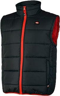Lee Cooper Workwear LCVST706 Mens Work Safety Lightweight Padded Vest Gilet Bodywarmer With Contrast Stitching