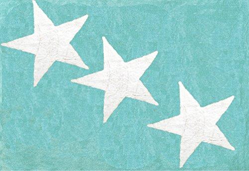 Aratextil. Tapis pour enfant 100% coton lavable en machine à laver Collection Europe Mint 120 x 160 cm