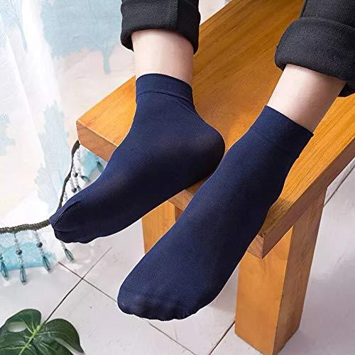 MIWNXM 10 Paare Business Socks Summer Thin Socks Mercerized Cotton Breathable Socks Mesh Socks Ankle Socks