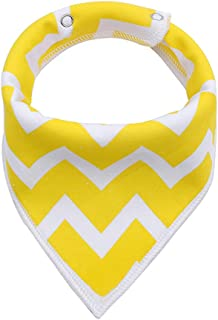 Queenbox Baby Bandana Drool Bibs, Unisex Gift for Drooling and Teething, Organic Cotton, Soft and Absorbent, Hypoallergenic - for Boys and Girls