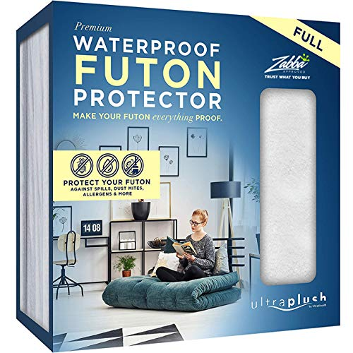 Ultra Plush 100% Waterproof Premium Mattress Protector, Luxuriously Soft and Comfortable, Protects Against Dust Mites and Allergens, Snug, Fitted Fit for Full Size Futon Mattresses Up to 12 Thick