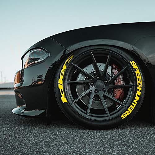 PS SPEEDHUNTERS IDLERS GELB permanente Reifenbeschriftung Reifen Hochwertige Aufkleber Tire Tyre Stickers Set 14