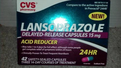 CVS New Acid Reducer LANSOPRAZOLE Delayed-Release Capsules 15MG
