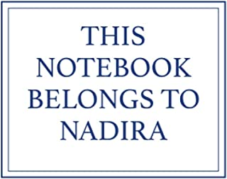 This Notebook Belongs to Nadira