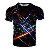 Udol Patrón Personalizado Impresión 3DT Camisa 3D Casual Estilo de Verano Impresión de Moda Camiseta de Manga Corta Camisa para Hombre Paño de Calle Ropa de Hombre j0326 (Color : 12, Size : X-Large)
