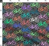 Fahrrad, Hell Stoffe - Individuell Bedruckt von Spoonflower