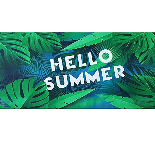 Flamenco Raya Toalla de Playa de Microfibra, Absorbente Toalla de Baño, Toalla de Playa para Nadar, Deportes, Viajes, Toalla de Mano, de Fácil Cuidado(Verde4,80x160cm)