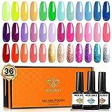 Best Gel Nail Kits - Gel Nail Polish 36 Pastel Colors 7ML Soft Review