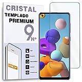 REY Protector de Pantalla para Samsung Galaxy A21S - Galaxy A21, Cristal Vidrio Templado Premium