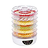 electriQ Food Dehydrator and Dryer with 6 Collapsible Shelves, 48 Hour Timer, 35-70C