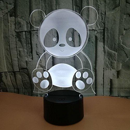 Nettes Panda Creative Electric 's Nachtlicht 3D LED USB Tischlampe Kinder Geburtstagsgeschenk...