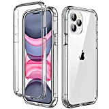 AICase Cover per iPhone 12 PRO/iPhone 12,Custodia per iPhone 12 PRO/iPhone 12 360 Gradi Rugged Cover Antiurti Protezione Resistente Trasparente Case per iPhone 12 PRO/iPhone 12 6.1''