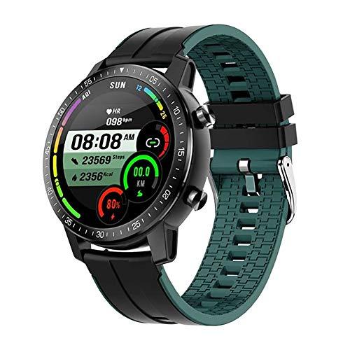 Business Smart Watch, 60 Tage lange Standby Bluetooth Anruf Sport Schrittzähler Wasserdicht Wecker Fitness Uhr mit Pulsmesser, kompatibel mit iOS und Android (Farbe: Grün)