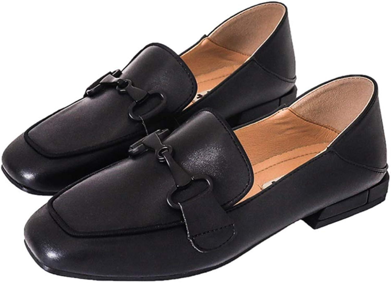 PLNXDM Flache Schuhe MüßIggäNger Stiefelschuhe Arbeits Freizeitschuhe Mary Jane Büro Mokassins Weibliche Britische Art Lederschuhe  | Schön In Der Farbe
