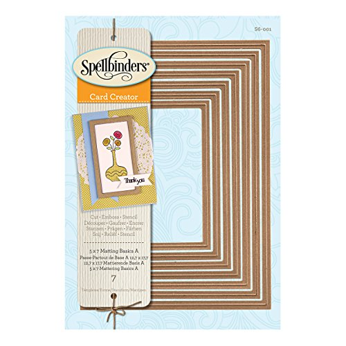 Spellbinders S6-001 Nestabilities Matting Basics A Die Templates, 5 by 7-Inch