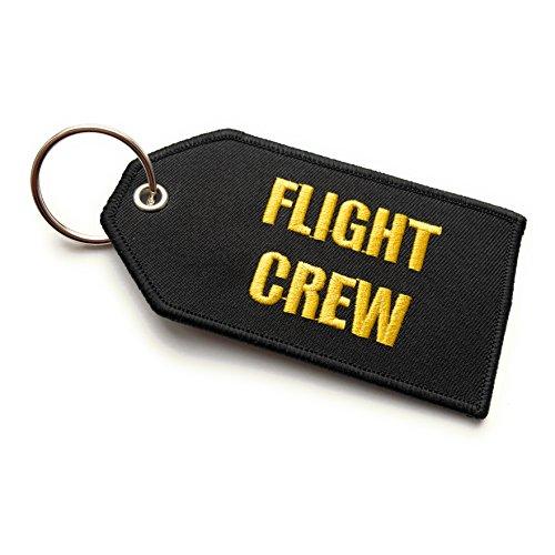 Flight Crew/Do Not Remove from Aicraft Luggage Tag   Medio   Negro/Amarillo   aviamart