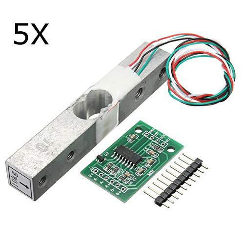 ILS - 5 stuks 10kg aluminiumlegering kleine weegschaal druksensor met HX711 AD-module