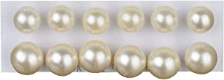 12 Pairs Shiny Round Imitation Pearl Earrings Alloy Stud Earrings Set Party Earring Accessories