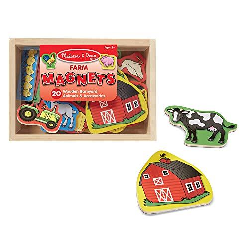 Melissa & Doug 20 Wooden Farm Magnets in...