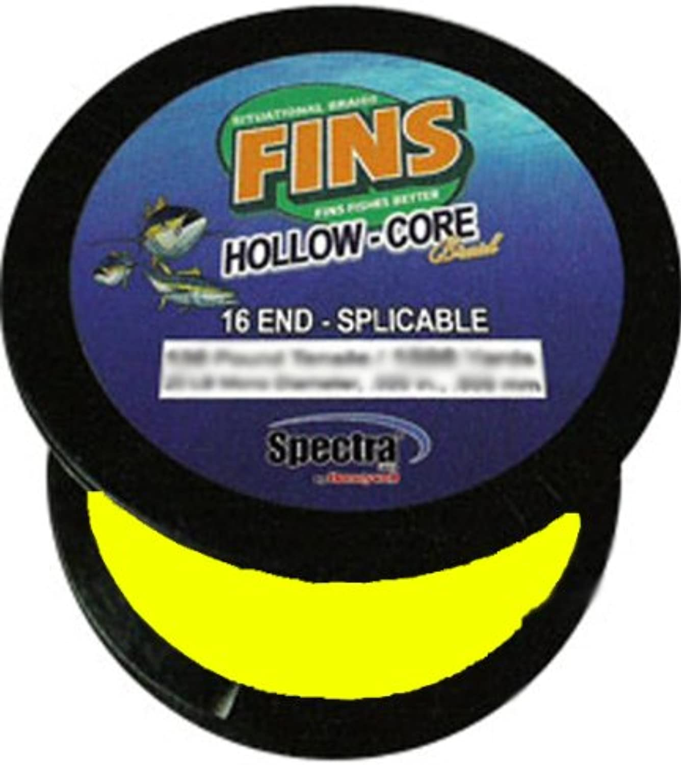 BBS TECH Fins Spectra 2400Yards Hollow Core Fishing Line, Yellow, 200Pound