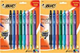 BIC Velocity Bold Fashion Ball Pen, 1.6 mm Bold Point (18823), Assorted, 8-Count (Set of 2)