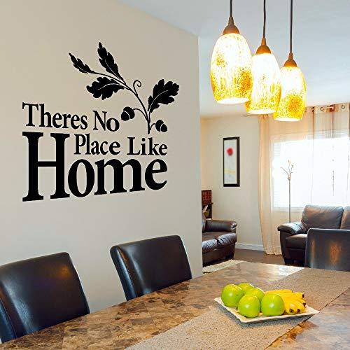 yaonuli Wohnkultur geen plaats zoals een thuisstad vinyl muursticker behang afneembare wooncultuur muurschildering