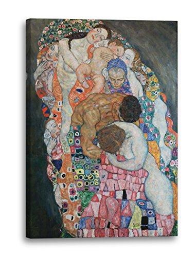 Printed Paintings Leinwand (60x80cm): Gustav Klimt - Tod und Leben (1908-1915)