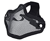 DCCN Demi-Masque de Visage Tactique Métal Mesh, Masque de Protection pour CS Airsoft de Paintball Resistant