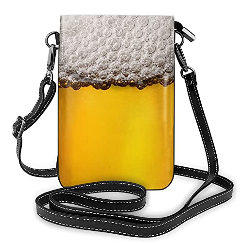 Bolso cruzado del bolso del teléfono celular de la espuma de la cerveza, bolso del teléfono celular, monedero de la cartera del teléfono celular bolso del embrague de