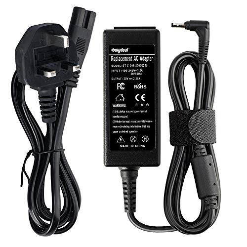 20V 2.25A Lenovo Laptop Charger, Sunydeal 45W Power Adapter for Lenovo IdeaPad 110 300 310 320 510 110S 110S-11IBR 120S 320-15IAP Yogo 710 Chromebook N22 N23 N42 Flex 4 5 Power Supply Cord(4x1.7mm)