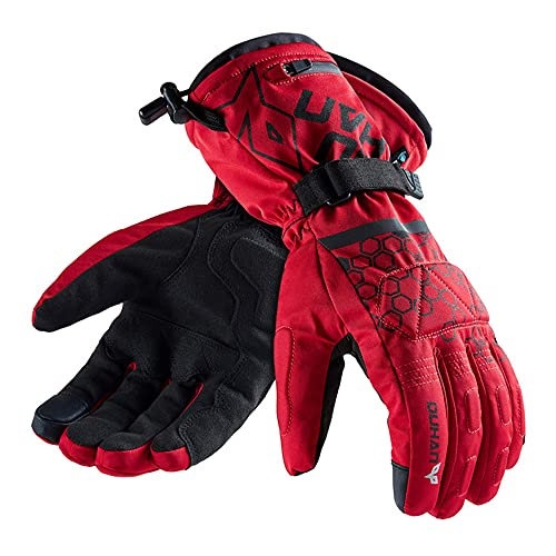 QMJHHW Motorcycle Electric Heated Gloves Touch Screen Winter Warm Skiing Gloves Waterproof Rechargeable Heating Thermal Gloves for Snowmobile Outdoor