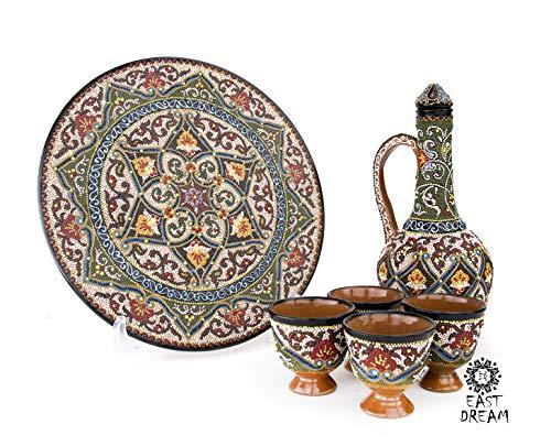 uzbek Set of teapot with cups EASTDREAM uzbekistan samarkand samarkand cast iron cauldron zira khiva suzani uzbekistan jewelry bukhara