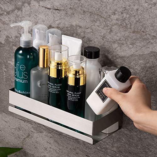 ZUNTO Duschablage Edelstahl Duschregal Duschkorb für Badezimmer Zubehör Wandmontage