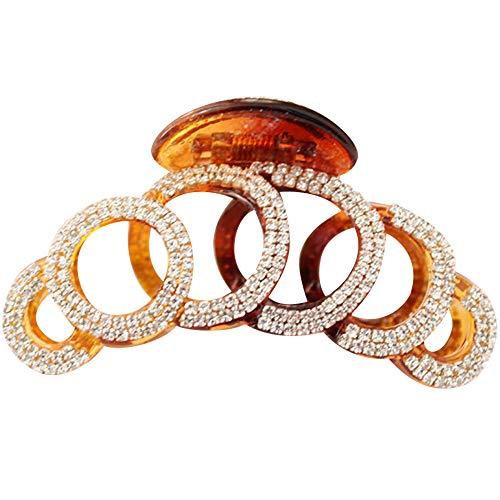 Dinglong Pince à cheveux,118 Nombre Femmes pinces à cheveux en cristal simple irrégulière non glissement pinces cheveux accessoires (Brun)