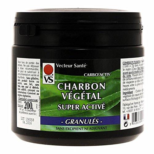 Vecteur Santé - Charbon Végétal Activé Granulés (200 g)
