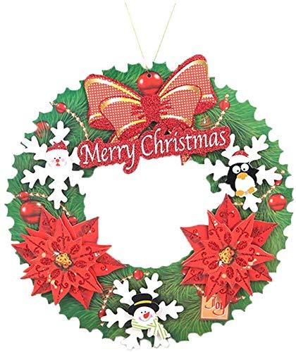 Elise kerstkrans, kerstdecoratie, kerstboom, in drie maten van de papieren slinger, 2 optionele kerstgebruikers (kleur: B)